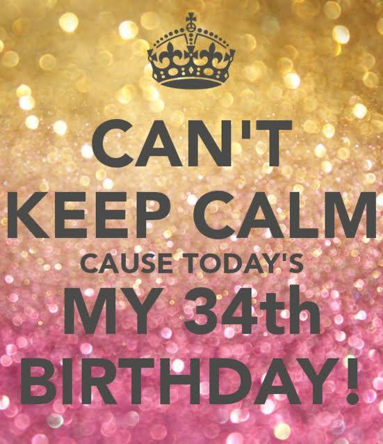 34 birthday